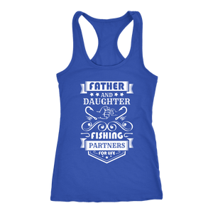 Father and Daughter Fishing Partners T-shirt Next Level Racerback Tank Royal XS