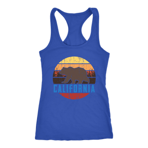 Big Bear California Shirt V.1, Womens Shirts T-shirt Next Level Racerback Tank Royal XS