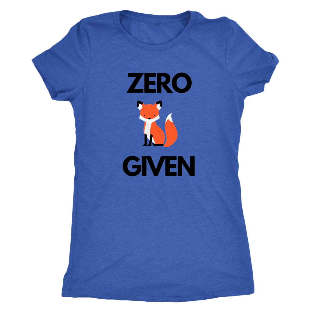 Zero Fox Given T-shirt Next Level Womens Triblend Vintage Royal S