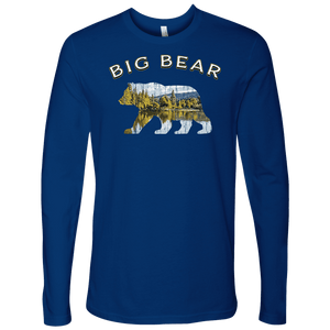 Big Bear V.1 Men's Shirts T-shirt Next Level Mens Long Sleeve Royal Blue S