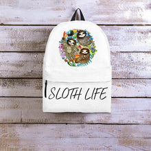 Sloth Backpacks Custom Art