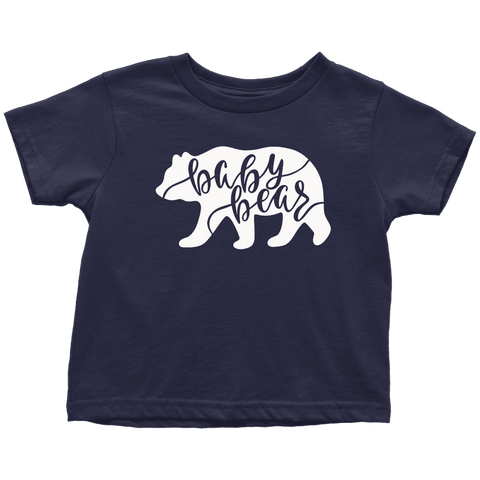 Baby Bear Shirts and Onesies T-shirt Toddler T-Shirt Navy Blue 2T