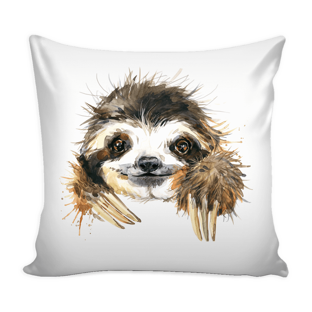 cute sloth pictures great for home pet sloth handcrafted pillow with custom art from elene f
