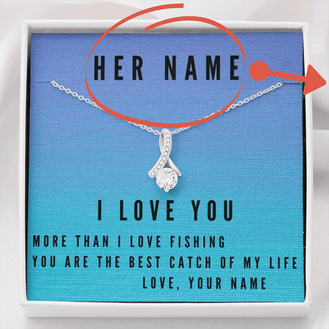 Personalized More Than Fishing Jewelry