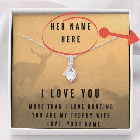 Image of Personalized More Than Hunting, Make This Your Unique Gift Jewelry