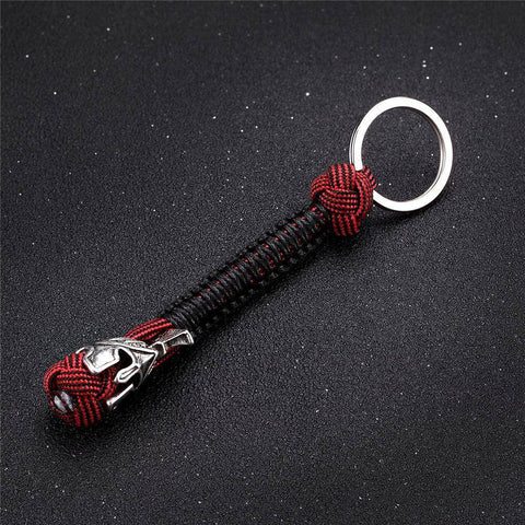Spartan Lanyard Version 2, Are You a Warrior? Key Chains Black Red V.2