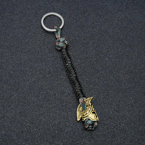 Spartan Lanyard Version 2, Are You a Warrior? Key Chains Multi Brass