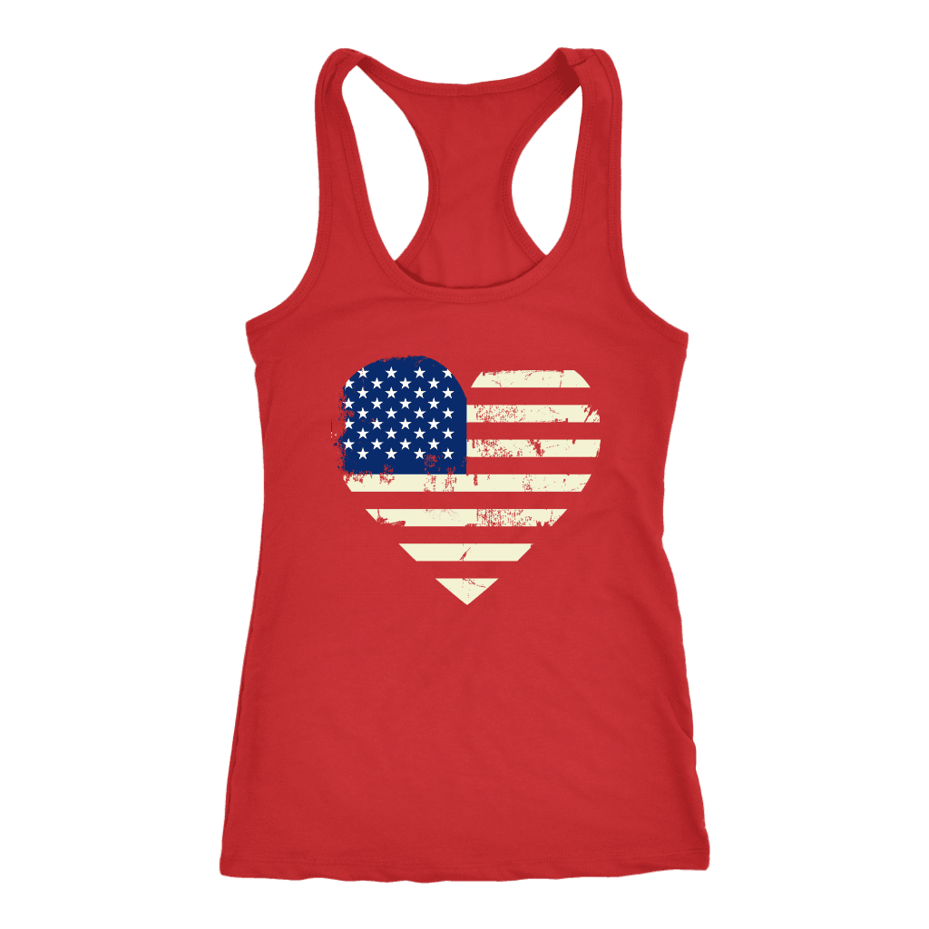 Love America Racerback Tank, Red