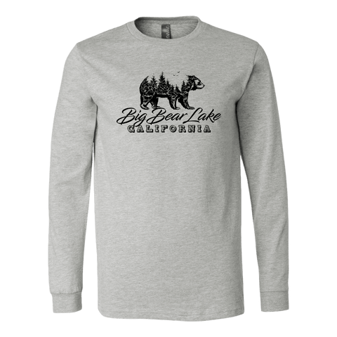 Image of Big Bear Lake California V.2, Hoodies and Long Sleeve T-shirt Canvas Long Sleeve Shirt Athletic Heather S