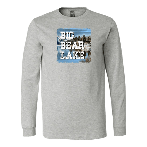 Image of Big Bear Lake V.1 Hoodies and Long Sleeve T-shirt Canvas Long Sleeve Shirt Athletic Heather S