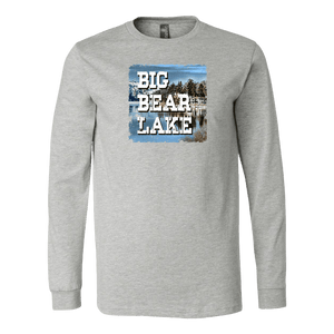 Big Bear Lake V.1 Hoodies and Long Sleeve T-shirt Canvas Long Sleeve Shirt Athletic Heather S