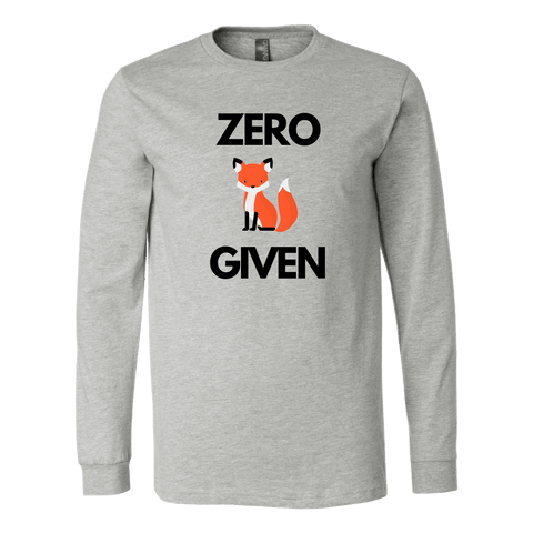 Image of Zero Fox Given T-shirt Canvas Long Sleeve Shirt Athletic Heather S