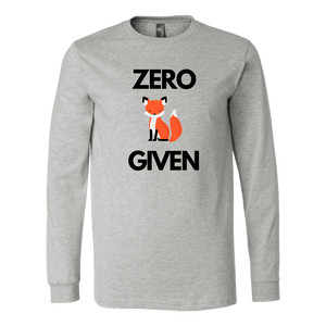 Zero Fox Given T-shirt Canvas Long Sleeve Shirt Athletic Heather S