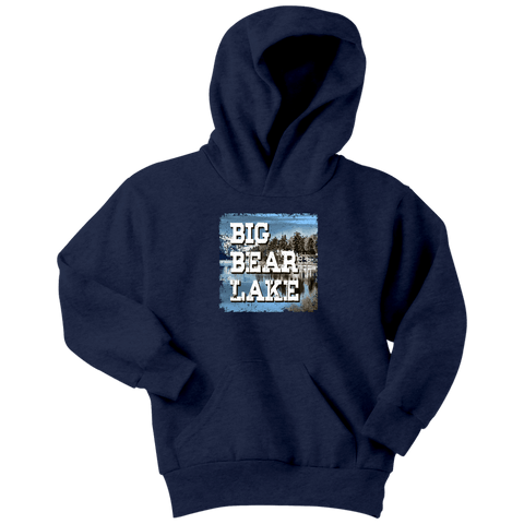Image of Big Bear Lake V.1 Hoodies and Long Sleeve T-shirt Youth Hoodie Navy XS