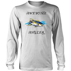 You're An Awesome Angler | V.3 Pirate T-shirt District Long Sleeve Shirt White S