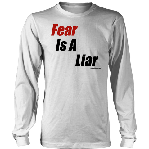 Image of Fear is a Liar, Bold T-shirt District Long Sleeve Shirt White S