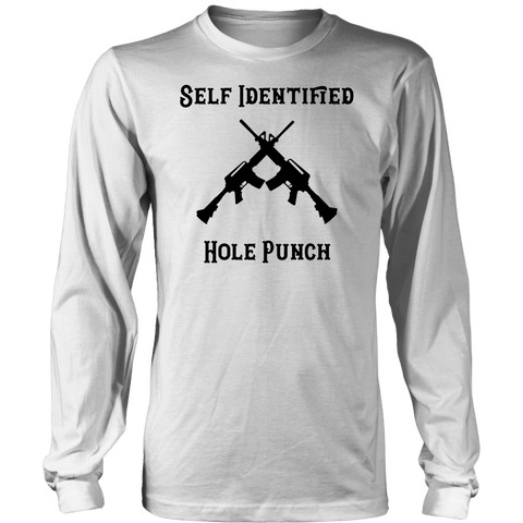 Self Identified Hole Punch T-shirt District Long Sleeve Shirt White S