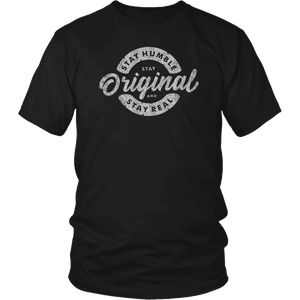 Stay Real, Stay Original Mens Shirts T-shirt District Unisex Shirt Black S