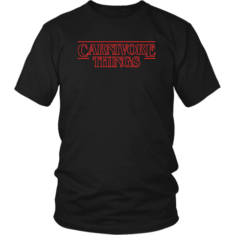 Carnivore Things T-shirt District Unisex Shirt Black S