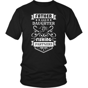 Father and Daughter Fishing Partners T-shirt District Unisex Shirt Black S
