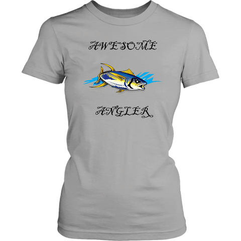 Image of You're An Awesome Angler | V.3 Pirate T-shirt District Womens Shirt Silver XS