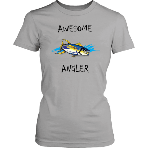 Image of You're An Awesome Angler | V.2 Chiller T-shirt District Womens Shirt Silver XS