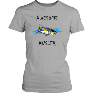 You're An Awesome Angler | V.2 Chiller T-shirt District Womens Shirt Silver XS
