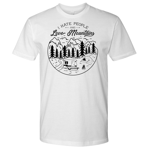 Image of Love The Mountains Mens T-shirt Next Level Mens Shirt White S