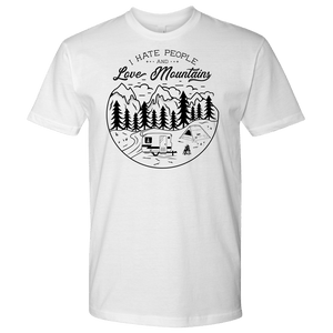 Love The Mountains Mens T-shirt Next Level Mens Shirt White S