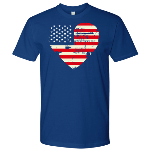 Image of Love America Men's Shirts Blue T-shirt Next Level Mens Shirt Royal Blue S