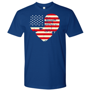 Love America Men's Shirts Blue T-shirt Next Level Mens Shirt Royal Blue S
