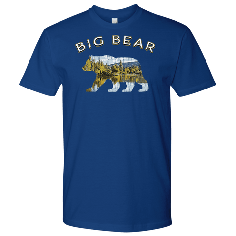 Image of Big Bear V.1 Men's Shirts T-shirt Next Level Mens Shirt Royal Blue S