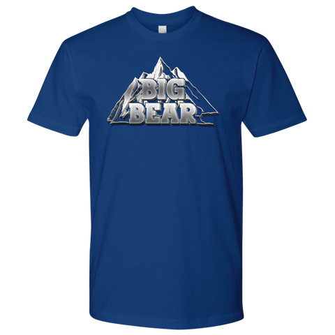 Image of Big Bear V.2, Mens T-shirt Next Level Mens Shirt Royal Blue S