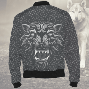 Aggressive Inner Wolf Bomber Jacket Jackets Aggressive Inner Wolf Bomber Jacket XS