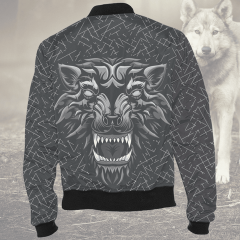 Image of Aggressive Inner Wolf Bomber Jacket Jackets Aggressive Inner Wolf Bomber Jacket XS