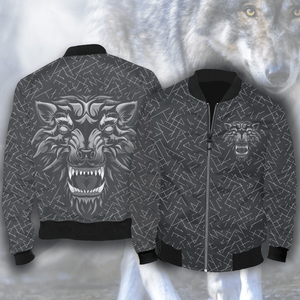 Aggressive Inner Wolf Bomber Jacket Jackets