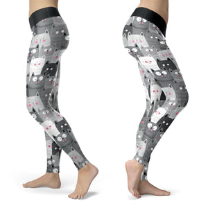 i love cats and these leggings are perfect with a cute pattern and comfortable fit I wear my cat leggings everywhere