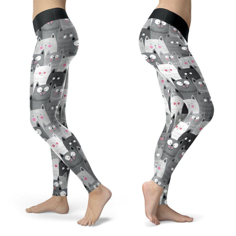 Image of Cute Cats Leggings Leggings Cute Cats Leggings S