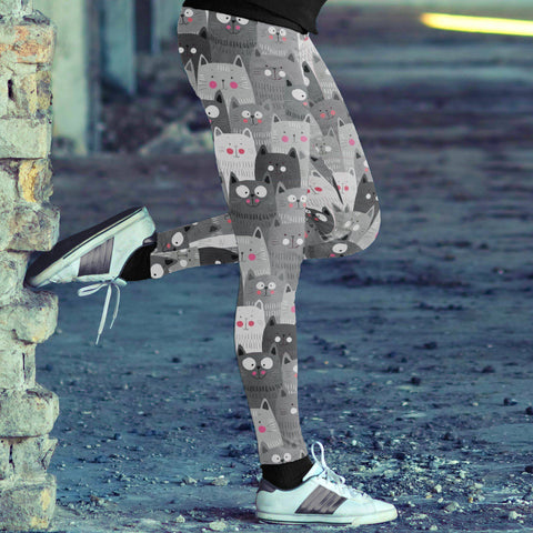 Image of Cute Cats Leggings Leggings