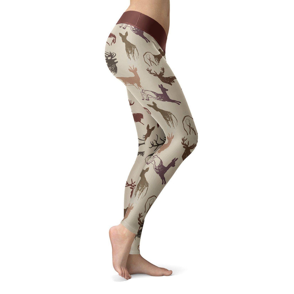 Beige Deer Leggings Leggings