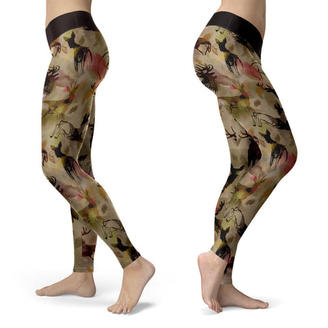 Abstract Deer Leggings Leggings Abstract Deer Leggings S