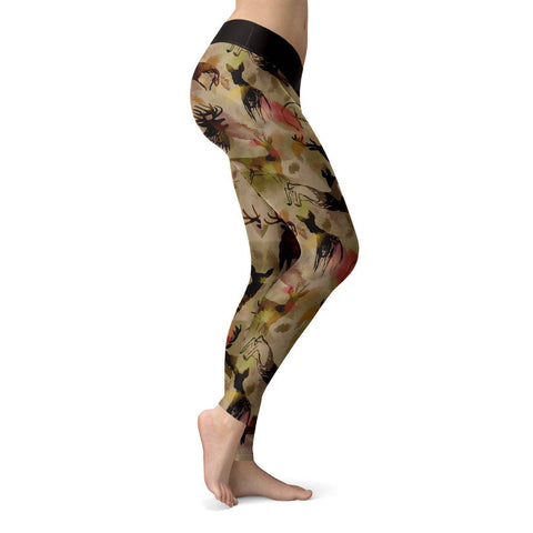 Image of Abstract Deer Leggings Leggings