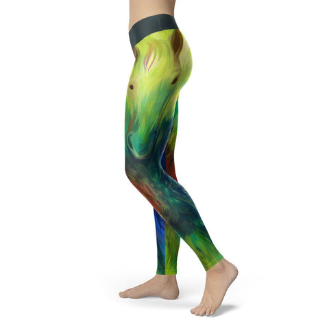 Image of Oil Painted Horse Leggings Leggings Oil Painted Horse Leggings S