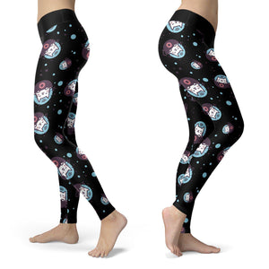 love funy cats in space great leggings best seller cute design on handcrafted items