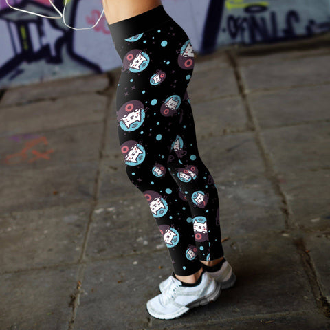 Cat In Space Leggings Leggings