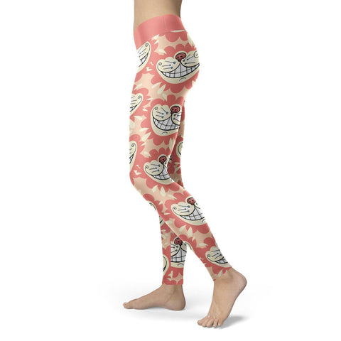Image of Wonder Inspired Cat Leggings Red Leggings