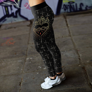 Crown of Thorns and Heart Leggings