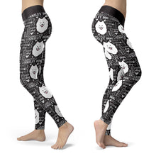 Samoyed Smiley Dog Leggings
