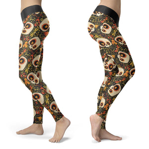 Dragonfly and Skull Grunge Leggings