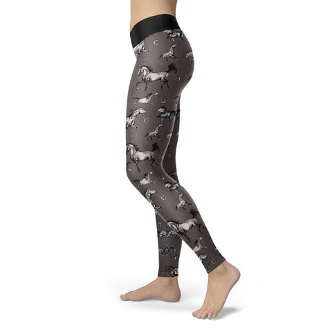 Image of Watercolor Horse Leggings